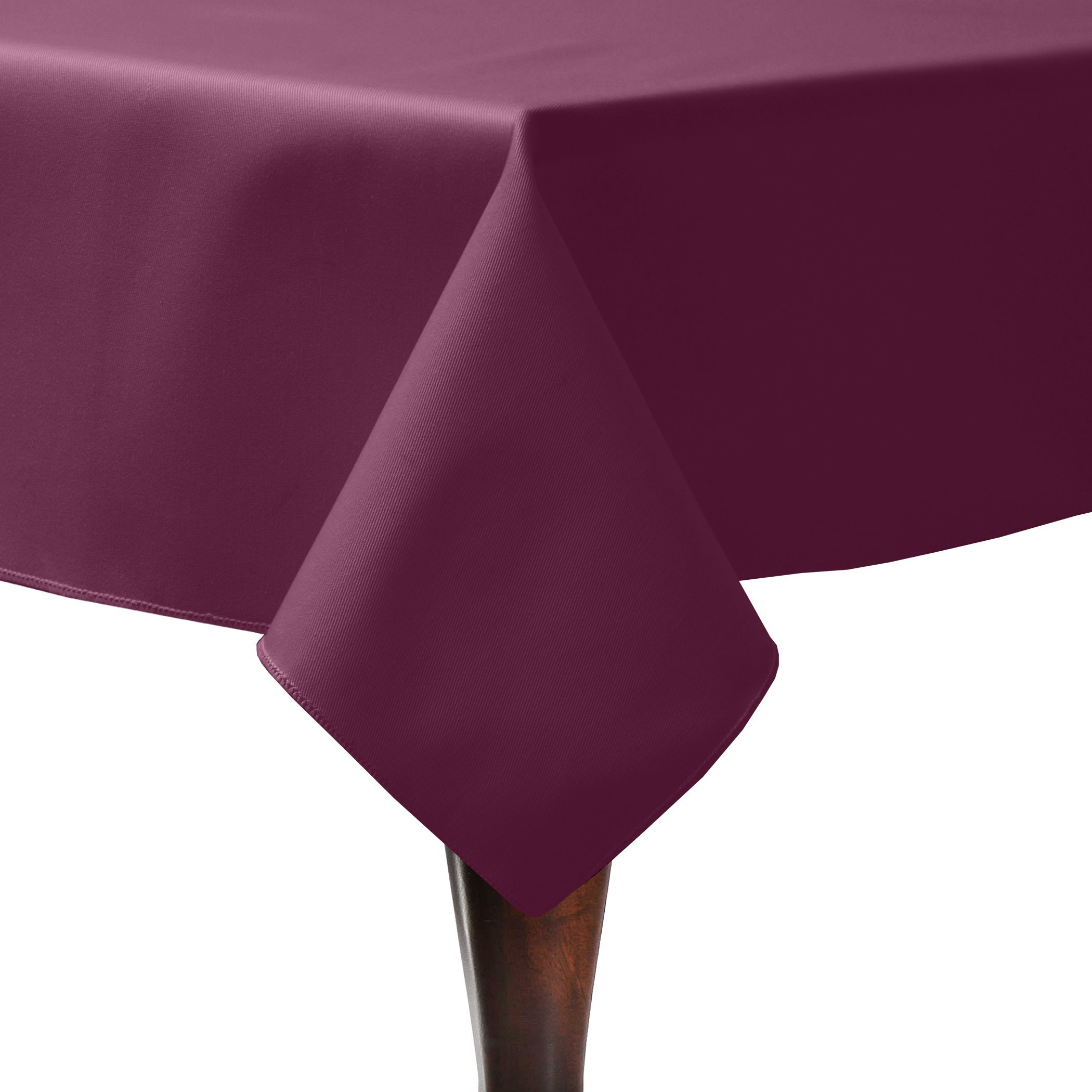Ultimate Textile (5 Pack) Poly-cotton Twill 60 x 144-Inch Rectangular Tablecloth - for Restaurant and Catering, Hotel or Home Dining use, Burgundy Dark Red