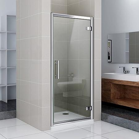 80 x 185 cm de cristal Duche puerta de ducha giratoria de para puerta de mampara de ducha con sistema de 80 x 80 cm (NS8 -80 + ASR88): Amazon.es: Hogar