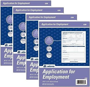 Rediform M66026NR Employment Application 8 1//2 x 11 50 Forms