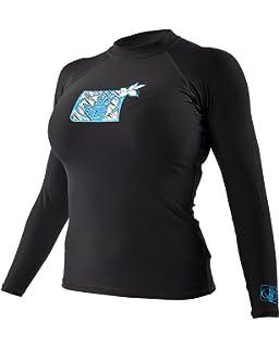 Body Glove Womens Smoothies Sleek Solid Long Sleeve Rashguard with UPF 50 Body Glove Juniors Swimwear 39506741