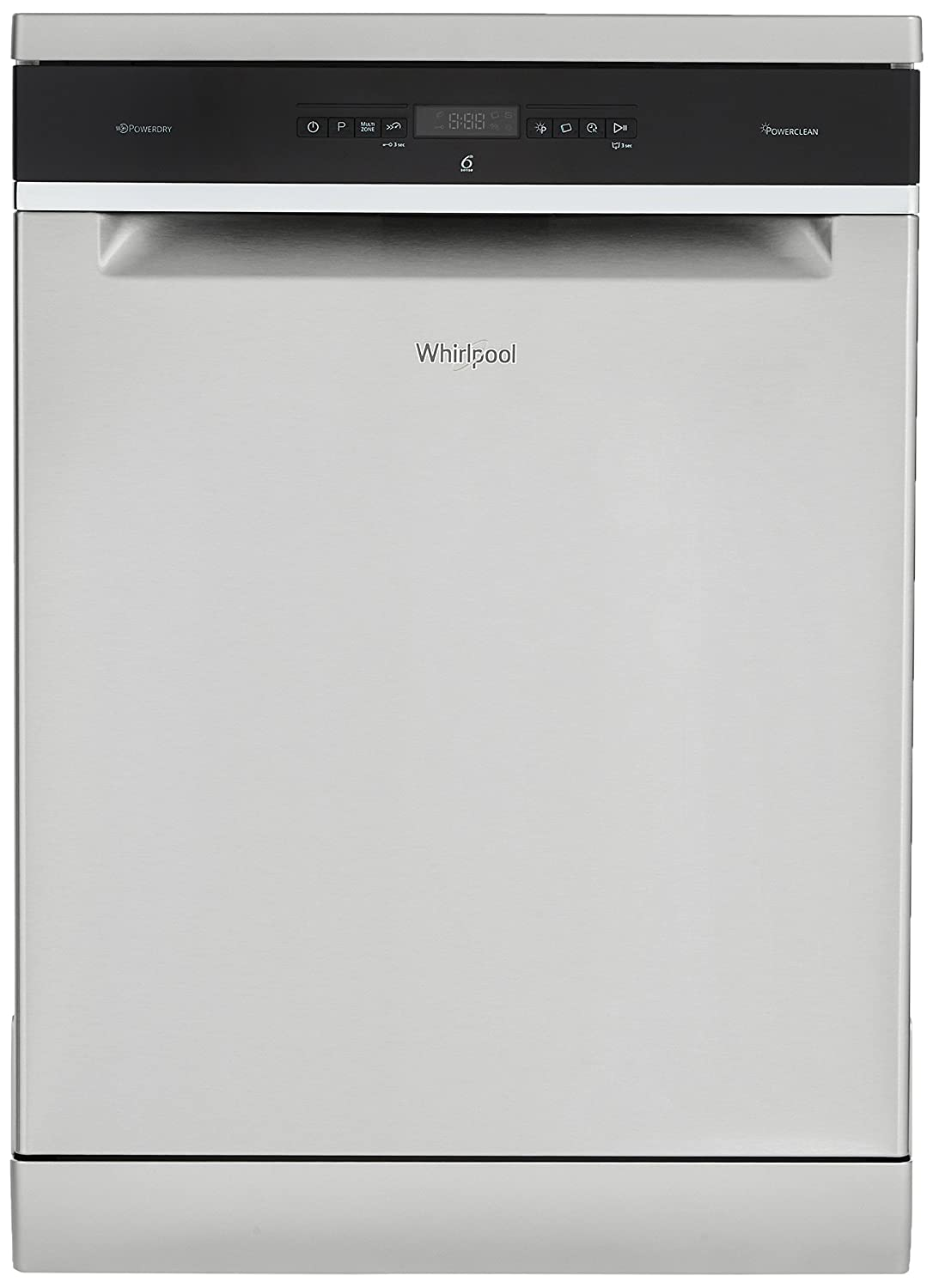 Whirlpool 14 Place Settings Dishwasher (PowerClean Pro-WFO3O33 DLX IN, Inox)