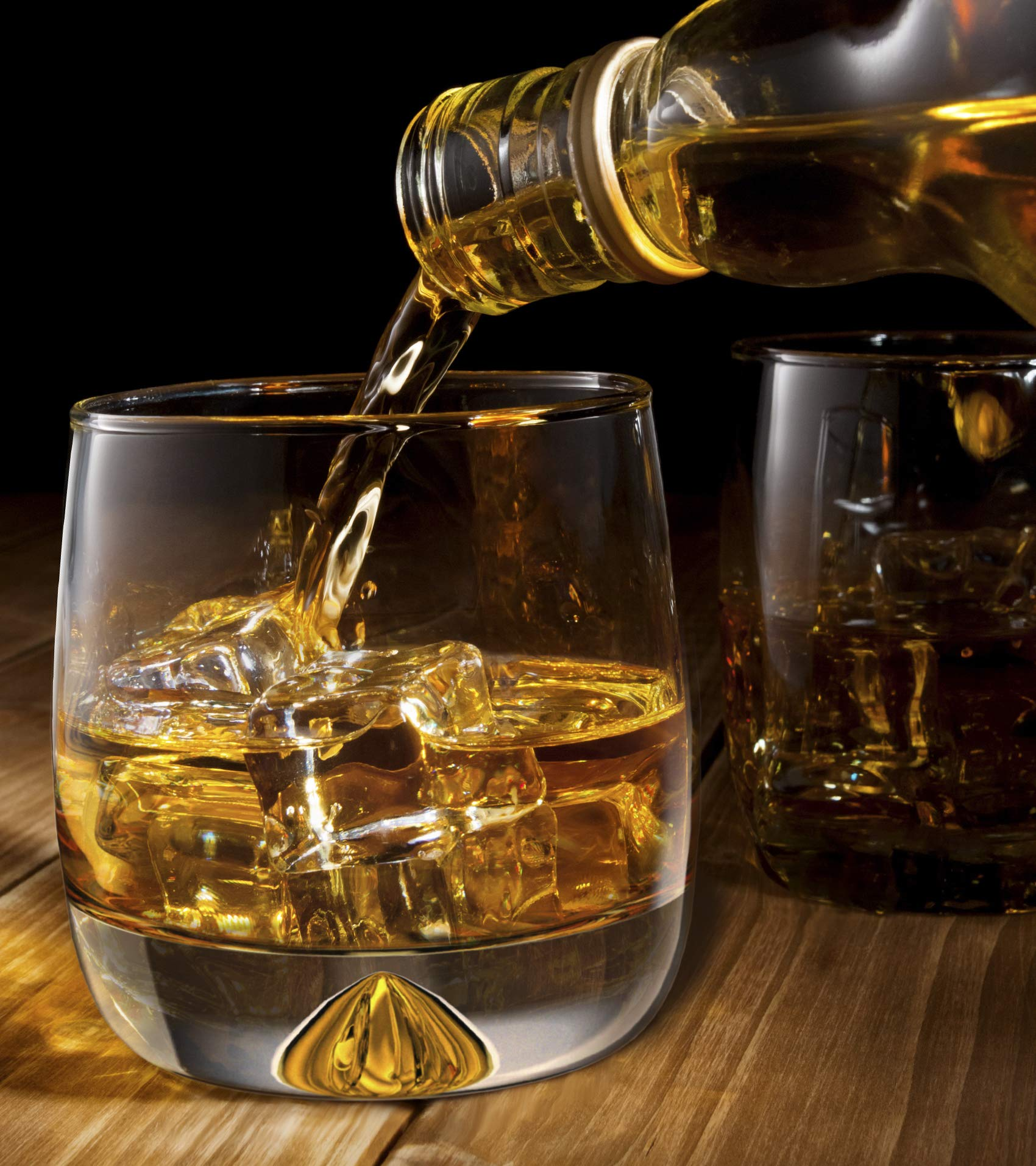 Premium Whiskey Glasses - Large - 12oz Set of 2 - Lead Free Hand Blown Crystal - Thick Weighted Bottom - Seamless Handmade Design - Perfect for Scotch, Bourbon, Manhattans, Old Fashioned's, Cocktails. by Mofado (Image #5)