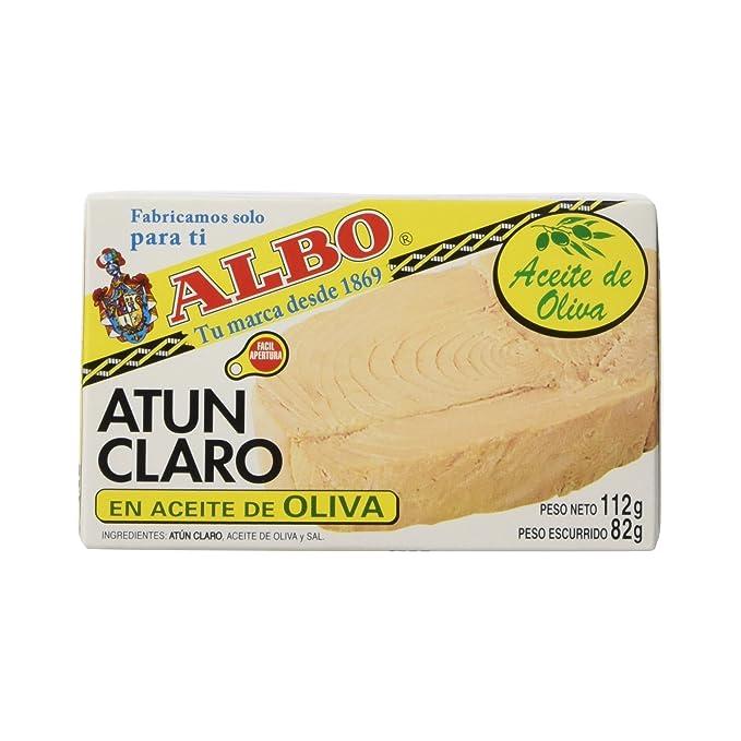 Albo - Atún claro en aceite de oliva - 112 g - [Pack de 8