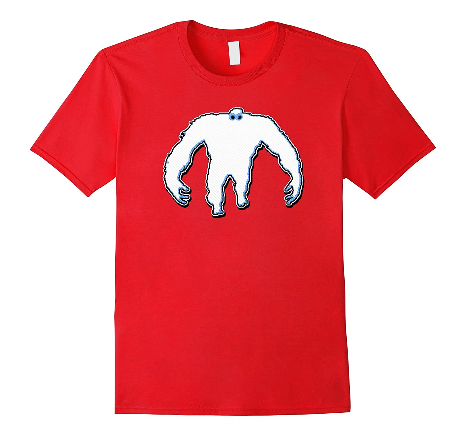 Abominable Snowman Yeti Squatch Paranormal Sasquatch T-Shirt-RT