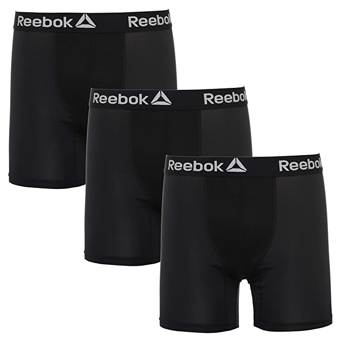 b5a28aa0bee9d Reebok Mens 3 Pack Performance Boxer Briefs