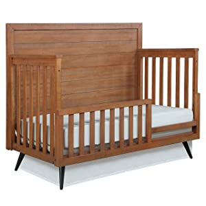 Evolur Stilnovo Mid Century Convertible Crib Toddler Guard Rail I Full Assembly I Lasting Quality