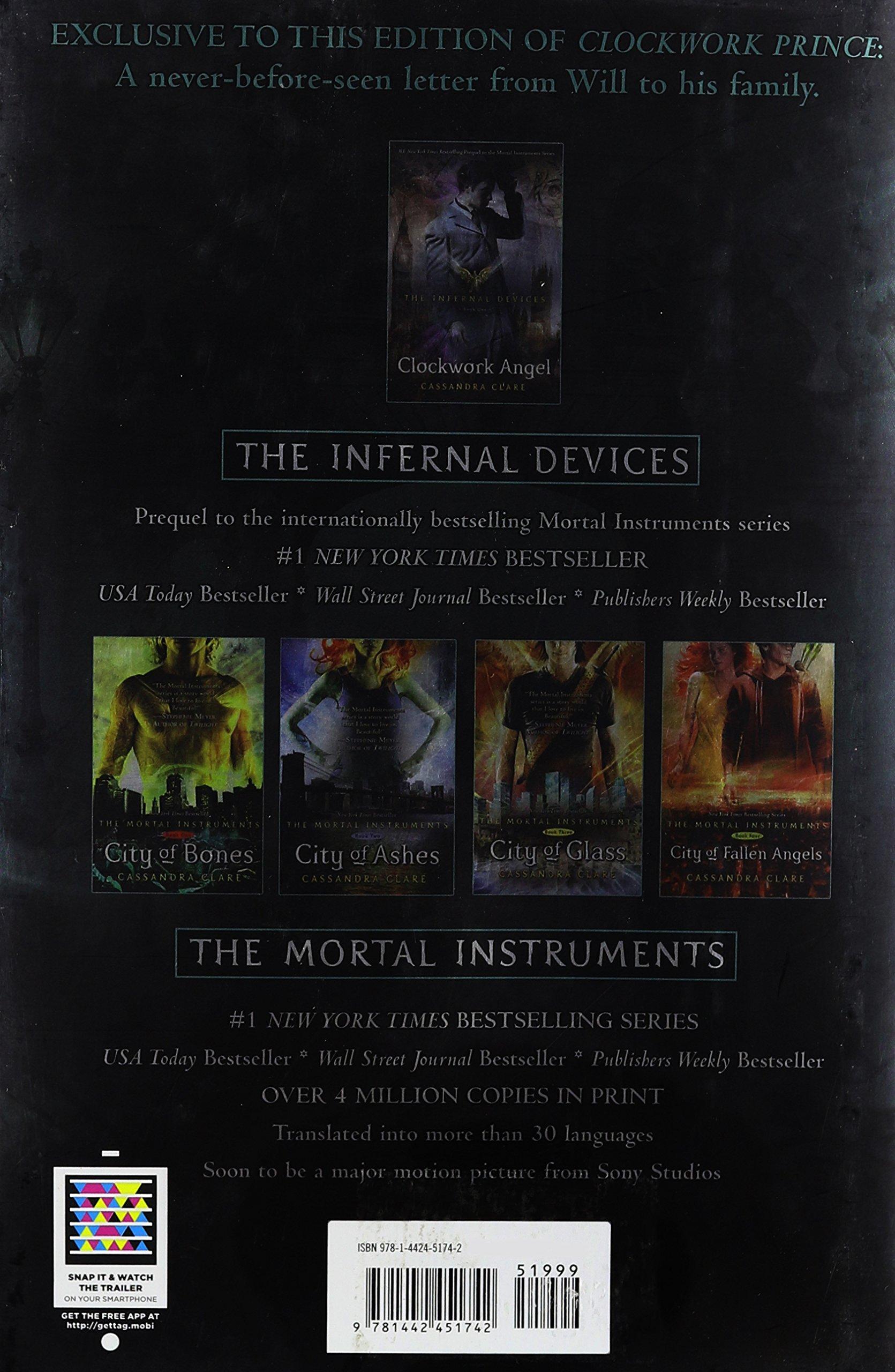 Clockwork Prince, Walmart Edition (the Infernal Devices, Volume 2):  Cassandra Clare: 9781442451742: Amazon: Books