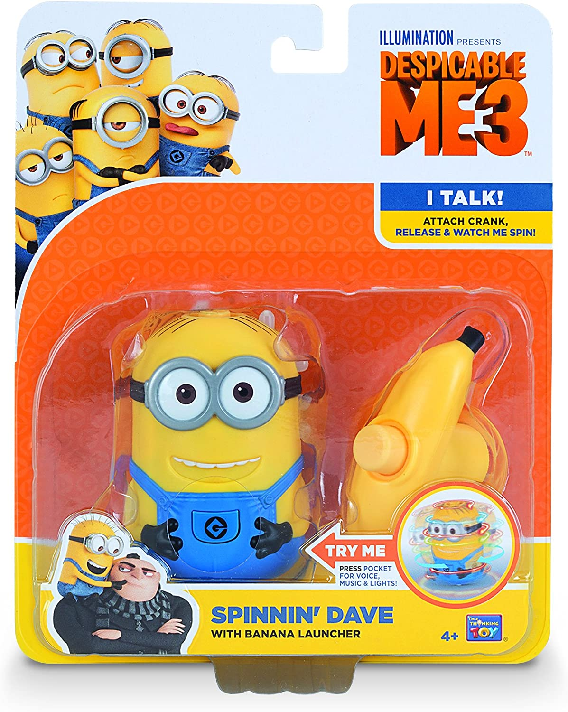 MTW Toys 20125 Kreisel mit Licht und Sound Minion Dave
