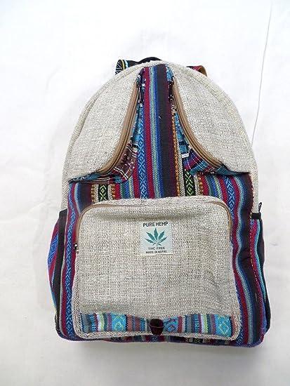 Namaste cinco bolsillo All Natural 100% Pure cáñamo mochila para portátil de viaje Escuela Libros