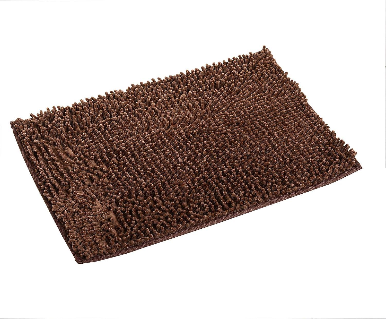 Pahajim Alfombra de baño Baño antideslizante Carcar almohadilla absorbente Tela de chenilla Alfombra de baño suave 80 x 50 CMS (gris)