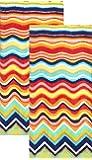 Fiesta Multicolor Zig Zag Terry Kitchen Towel, Set of 2