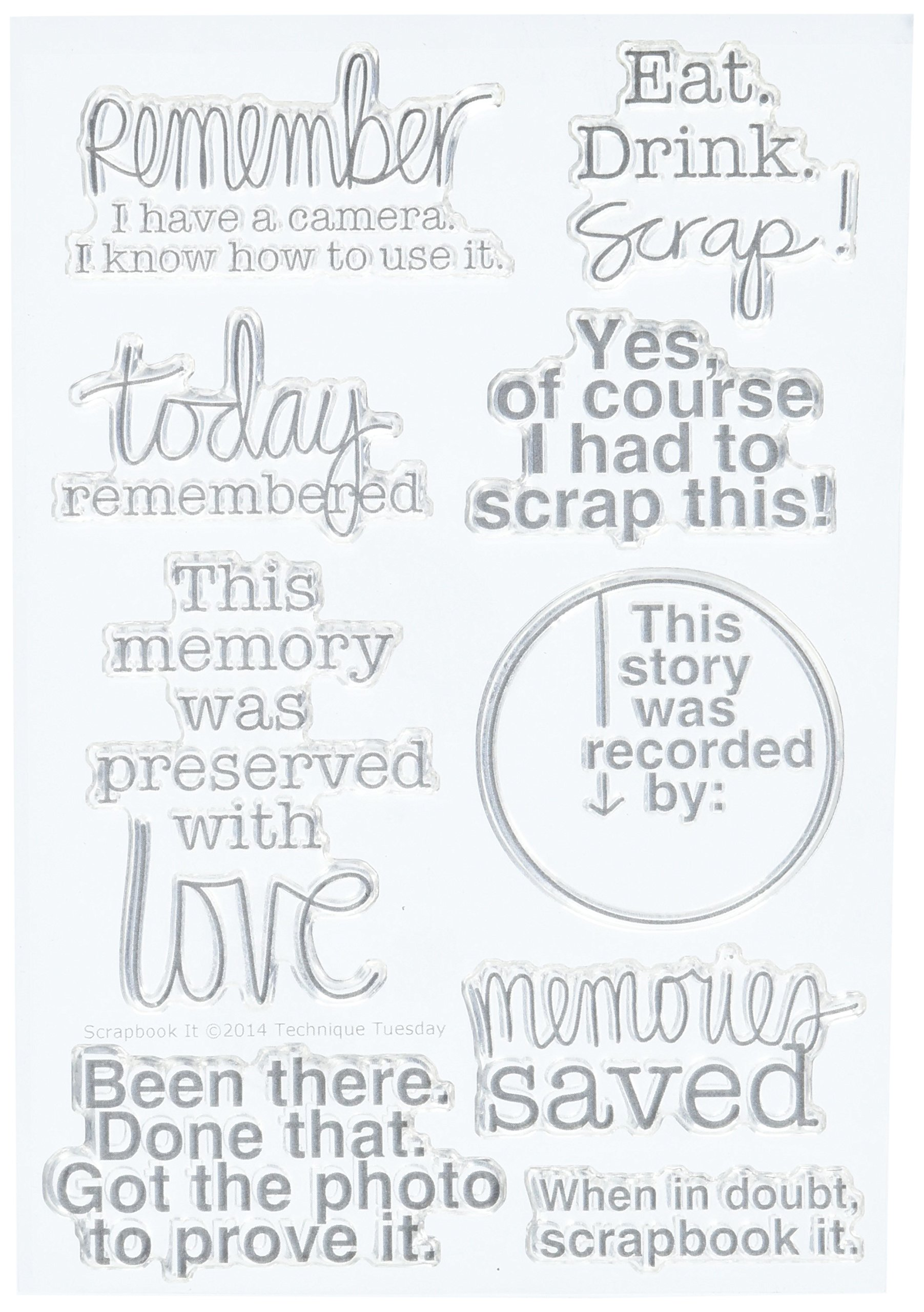 Technique Tuesday TT-SCRAP Clear Stamp, 4 by 6-Inch, Scrapbook It