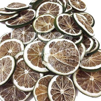 40 Sliced Green Lemon Dried Green Lemon Sliced Fruit Christmas