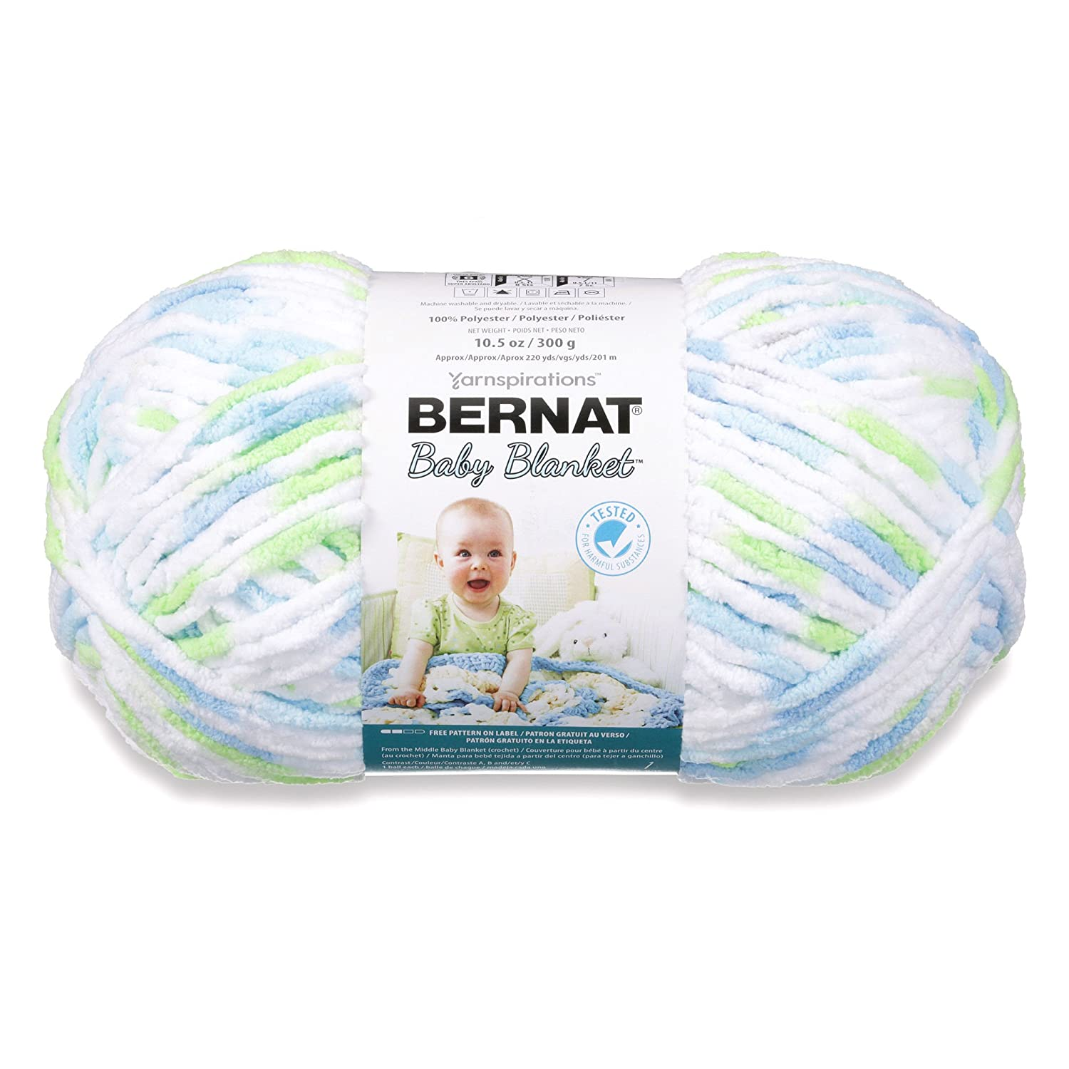 Bernat Baby Blanket Yarn - (6) Super Bulky Gauge - 10.5 oz - Funny Prints - Single Ball Machine Wash & Dry (16110404233) 1481 West Second Street