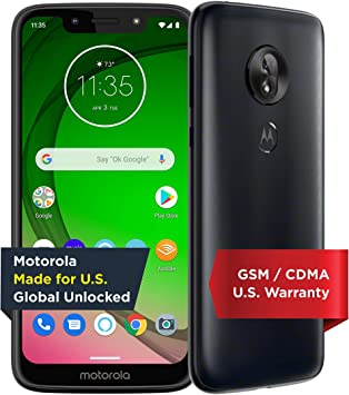 Moto G7 Play with Alexa Push-to-Talk – Unlocked – 32 GB – Deep Indigo (US Warran