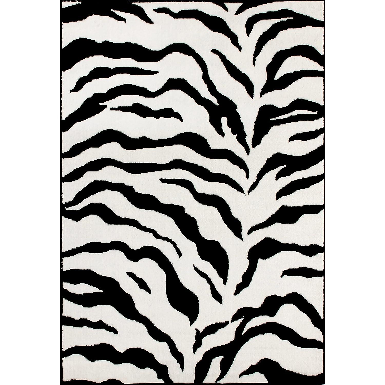 Leopard Print Area Rug Part - 34: Amazon.com: Zebra Animal Skin Print Modern Carpet Black Area Rug, 3 Feet By  5 Feet (3u0027 X 5u0027): Kitchen U0026 Dining