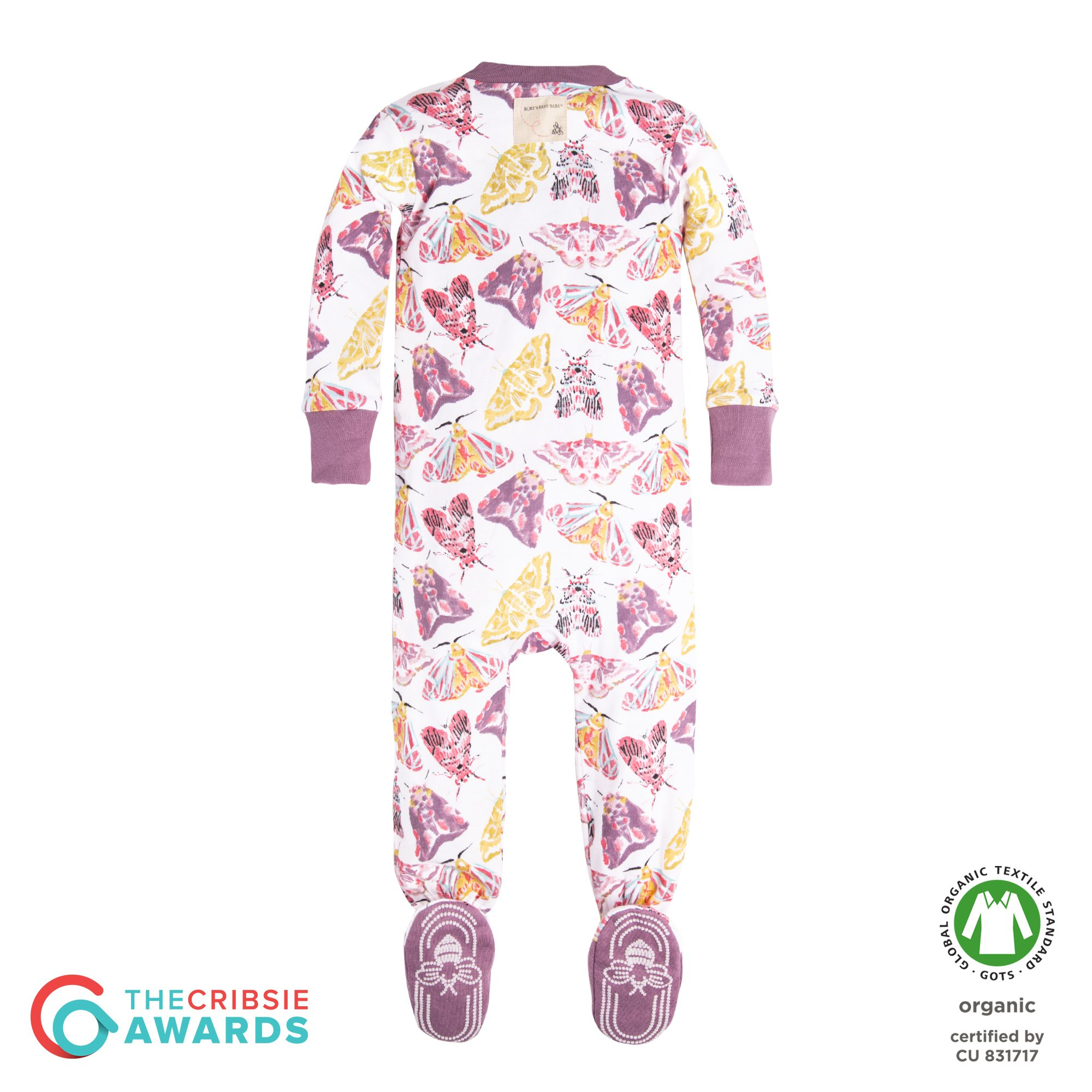 97f47b38e4 Burt s Bees Baby Baby Girls  Organic Floral Zip Front Non-Slip Footed  Sleeper Pajamas