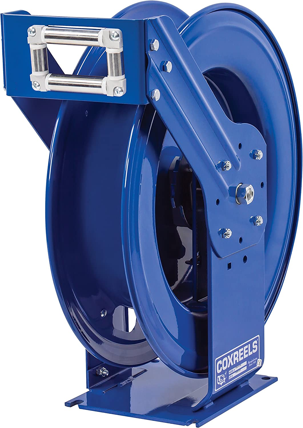 "Coxreels TSHL-N-550-DF-BBX Spring Rewind Hose Reel for DEF Applications: 3/4"" I.D, 50' Hose, 300 psi, Less Hose"