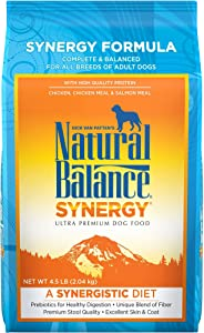 Natural Balance Synergy Ultra Premium Dry Dog Food, Chicken, Chicken Meal & Salmon Meal Formula, 4.5 Pounds