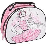 Vanity case Les parisiennes La romantique Rose PVC Fermeture zip Poignée La chaise longue 32-V2-103R