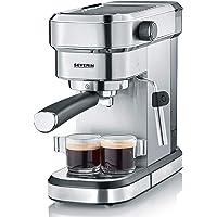 Severin KA 5994 Espresa - Cafetera espresso, 1350 W, 1.1 L, acero inoxidable cepillado, función descalcificación, color…