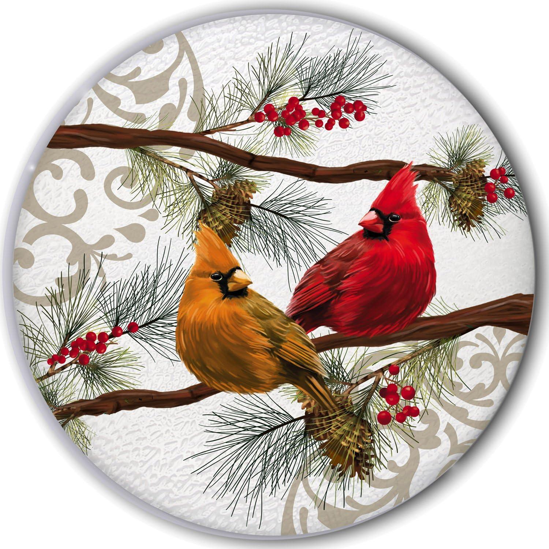 New Creative Seasonal Cardinals Glass Patio Table