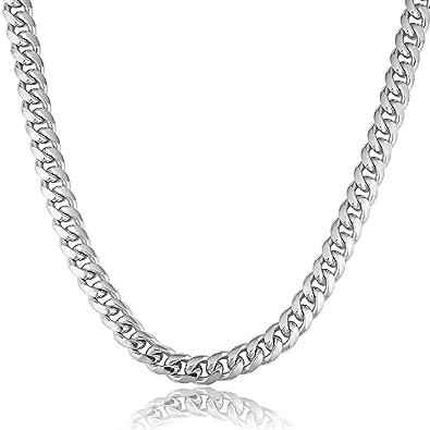 baca5a690d72a Kooljewelry Mens Sterling Silver Miami Cuban Link Necklace (10.3 mm ...