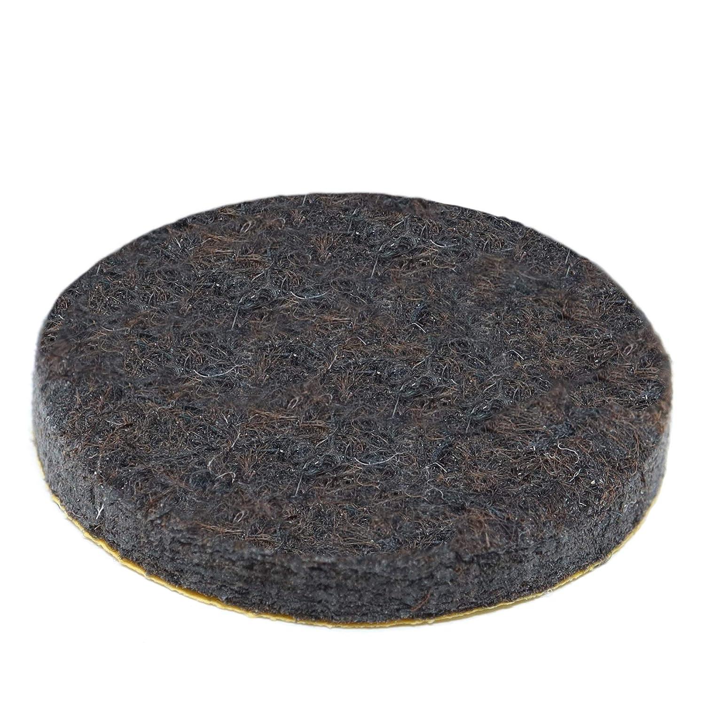 32 x Almohadillas de fieltro   Ø 12 mm   redondas   marrón   autoadhesivas   de la máxima calidad (5.5mm) Adsamm