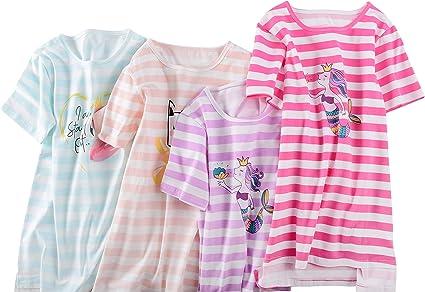 ABClothing Girls Women Matching Cotton Nighties Mermaid Flamingo Pjs Dress Pink 3-14 Years S M L