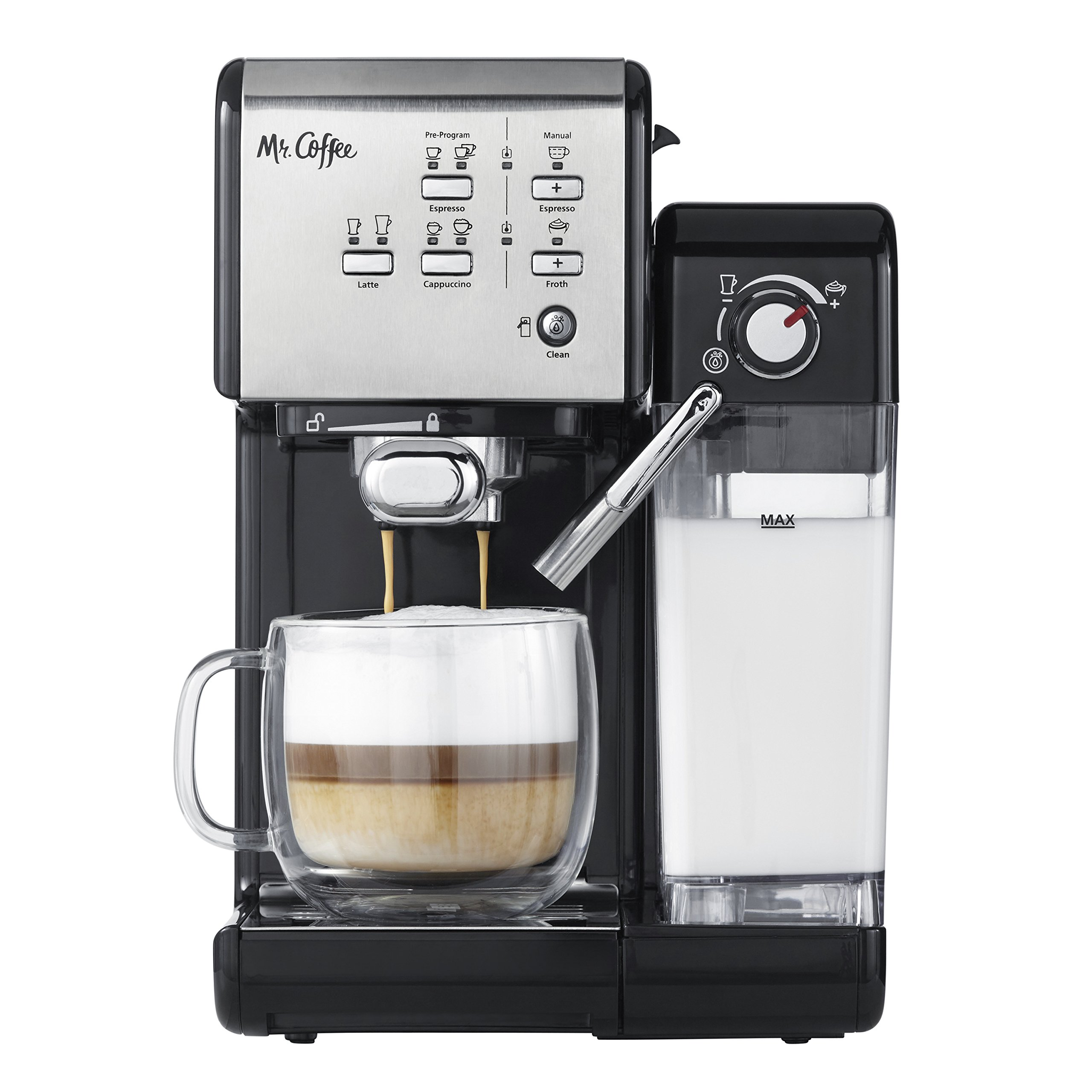 Mr. Coffee One-Touch CoffeeHouse Espresso Maker and Cappuccino Machine by Mr. Coffee