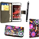 GSDSTYLEYOURMOBILE {TM} SONY XPERIA SP M35H PU LEATHER MAGNETIC FLIP CASE SKIN COVER POUCH +SCREEN PROTECTOR +STYLUS