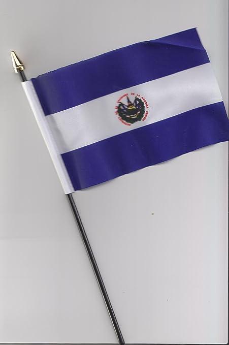 El Salvador de la bandera de mano 25 cm