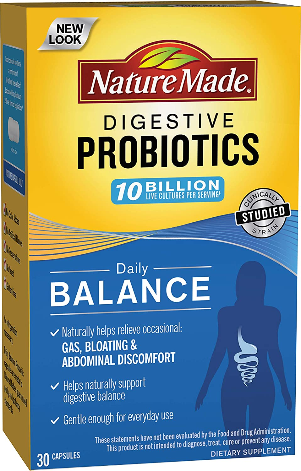 Nature Made Daily Balance Digestive Probiotic, 30 Count