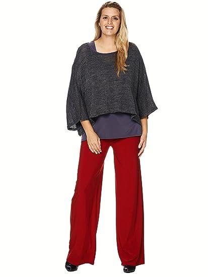 laest technology Online-Shop große Auswahl EXTRA LANG Trendige Marlenehose Stretch rot