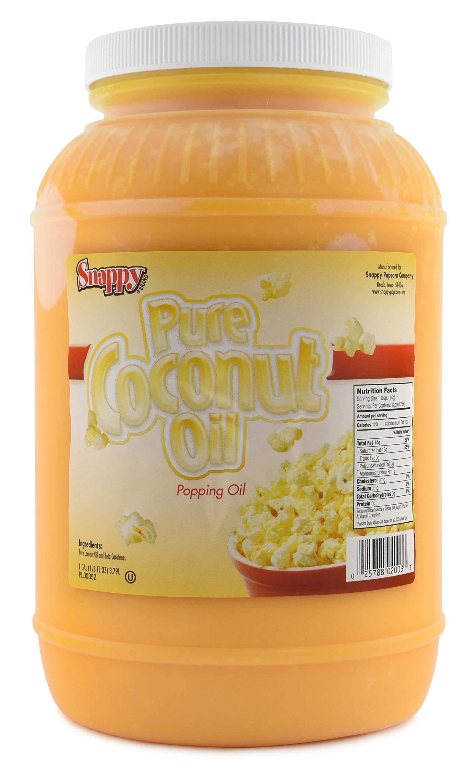 Snappy Popcorn Colored Coconut Oil, 1 Gallon by Snappy Popcorn