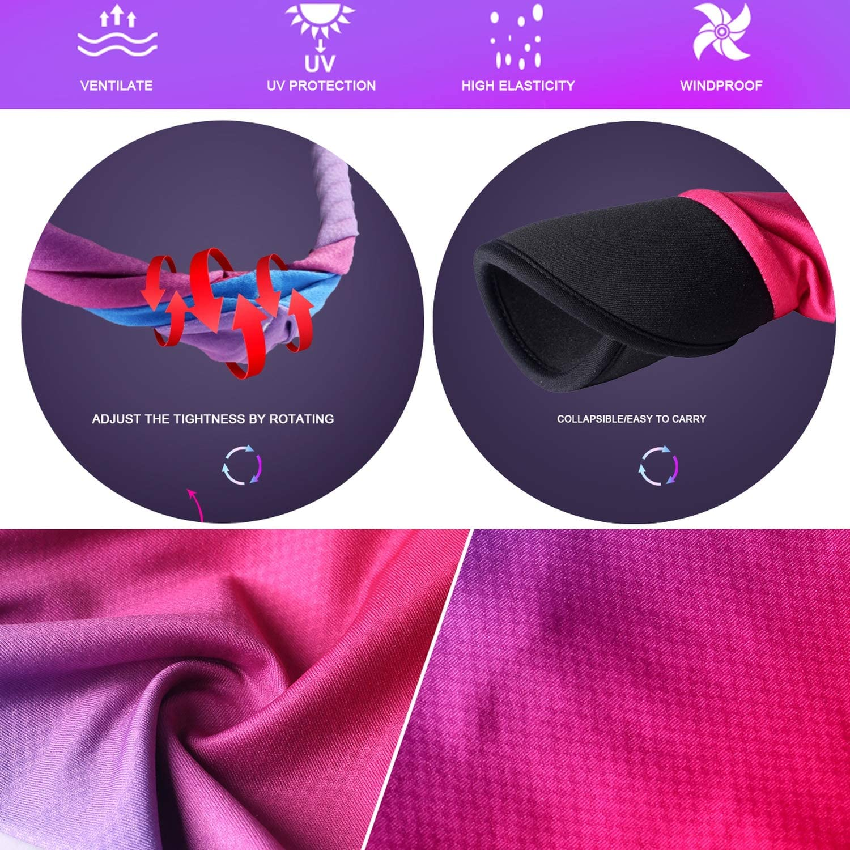 Soft Brim Sun Visor Hat Light Weight Gaiter Scarf Yoga Headband Multifunctional Foldable Beach Vacation Cap