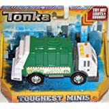 Tonka Toughest Minis Green and Clean Trash Truck with Lights and Sounds