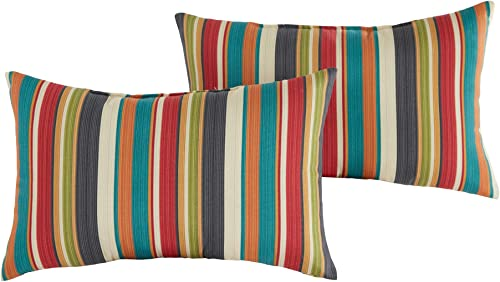 Greendale Home Fashions Set of 2 Outdoor 19x12-inch Rectangle Throw Pillows