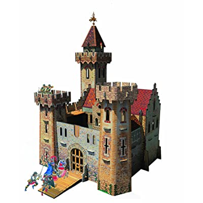 Clever Paper Knight's Castle with Figures: Toys & Games