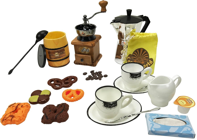 Little Barista Brew & Serve Espresso Coffee Maker with Pastries Play Food Set   B01N0LU4ZQ