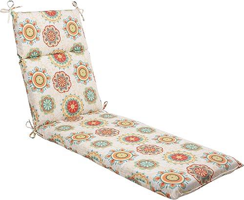 Pillow Perfect Indoor Outdoor Fairington Chaise Lounge Cushion, Aqua