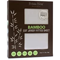 Bubba Blue Bamboo Jersey Cot Fitted Sheet, White