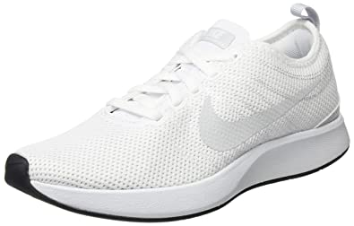 Nike Womens Dualtone Racer Low Top Lace Up, White/Pure Platinum, Size 6.0