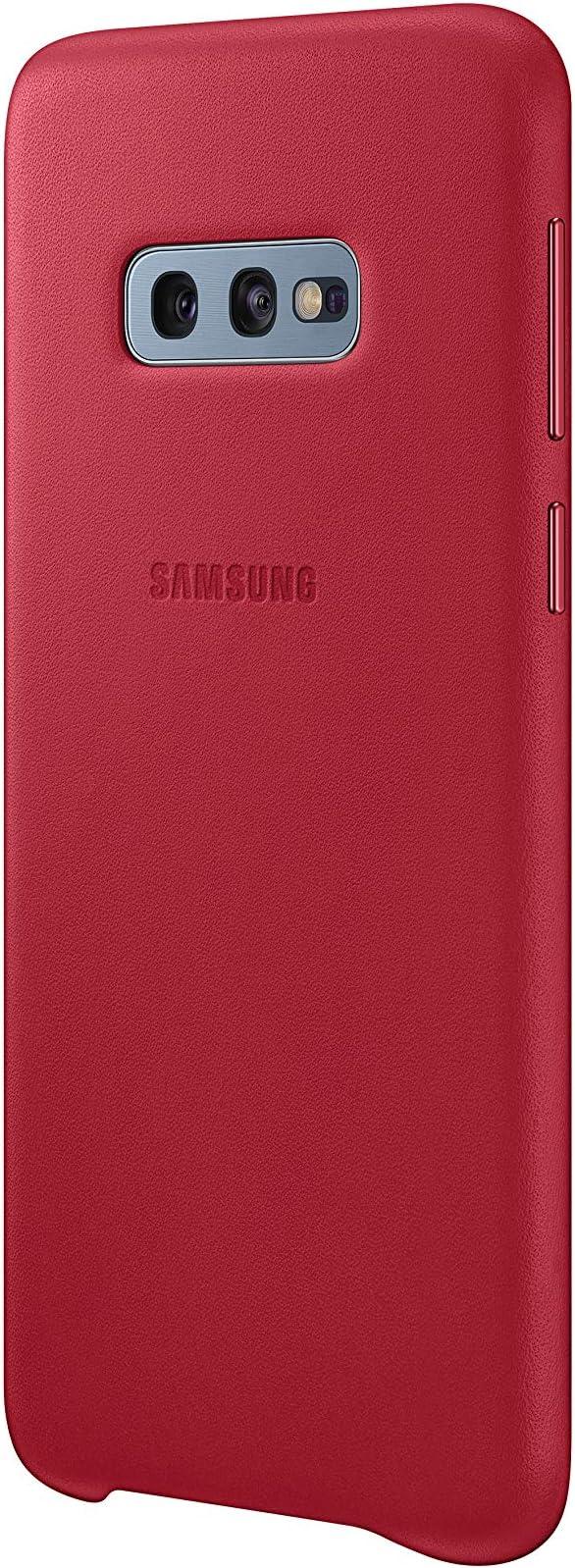 Leather Cover Für Galaxy S10 Rot Elektronik