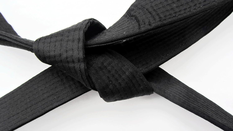 Artes Marciales, cinturón de karate 'SHIHAN-MASTER' negro 320cm, Kárate, Kickboxing, judo, BJJ Ju Jitsu Grading Cinturón para todas estilos de artes marciales NWSSA