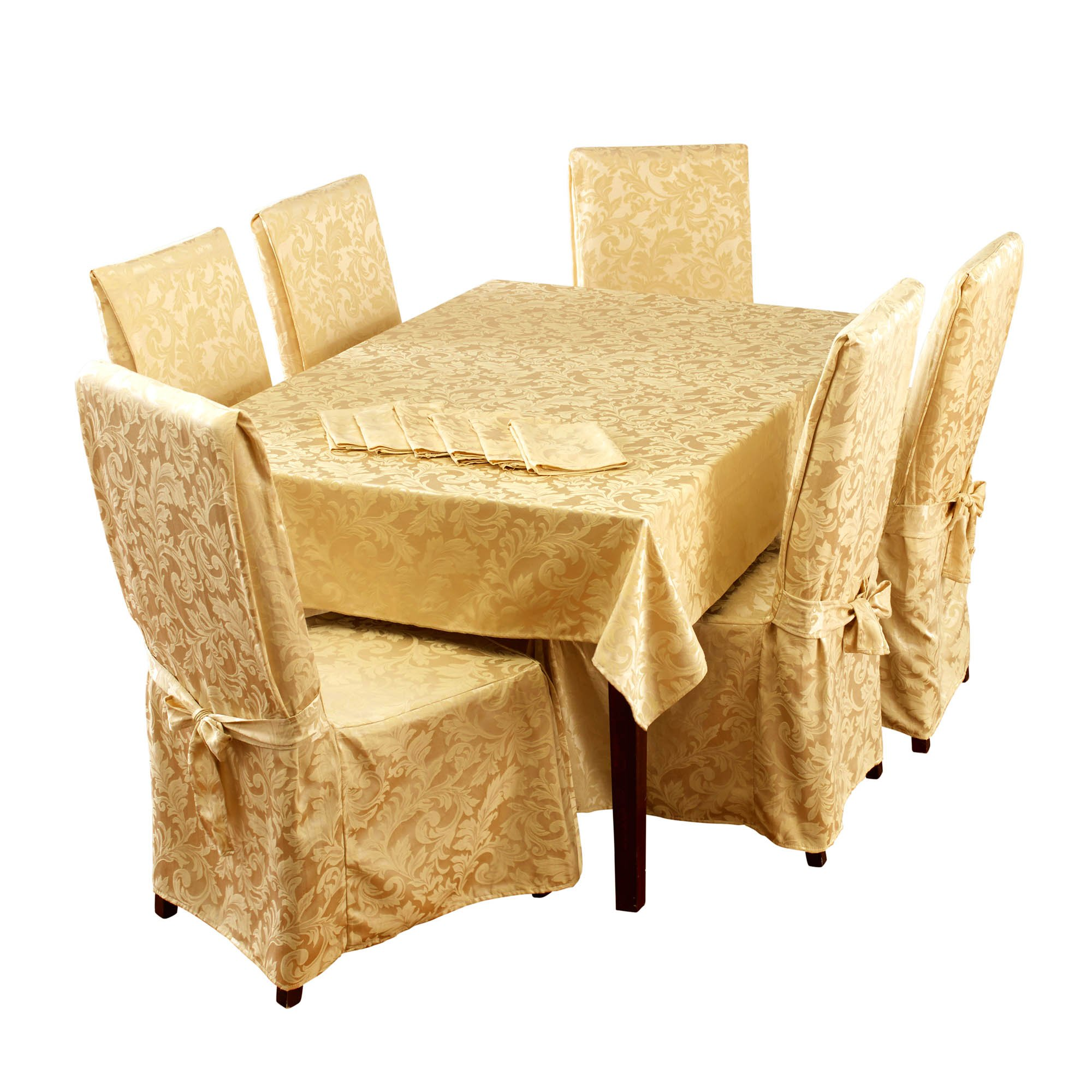Stylemaster Home Products Genoa 13 Piece Dining Set, 60'' x 84'', Gold