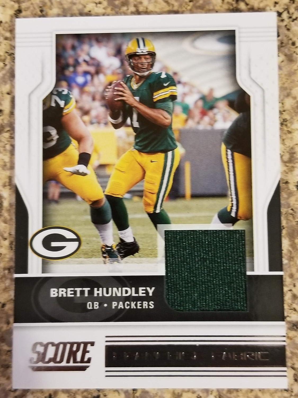 2017 Score Football #29 Brett Hundley Franchise Fabric Jersey Card ...