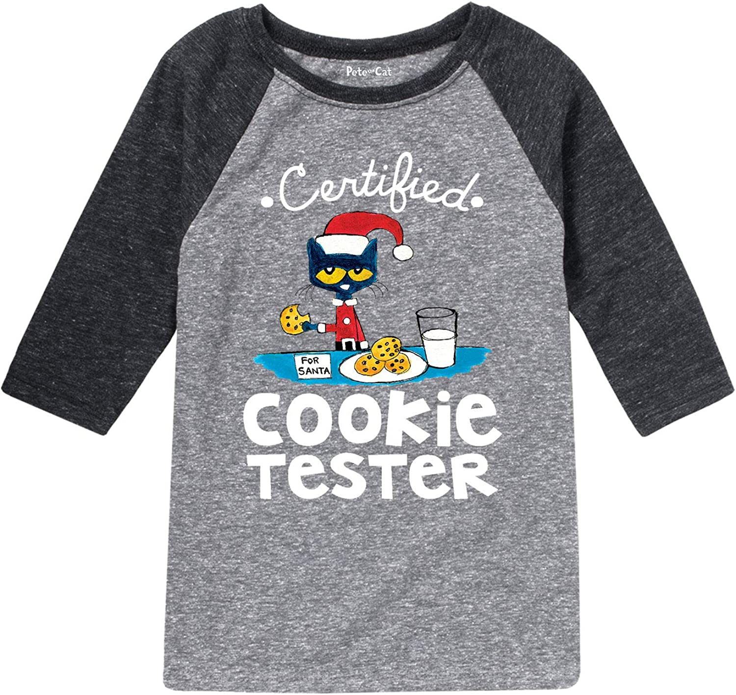 Pete the Cat Certified Cookie Tester Toddler Long Sleeve Tee
