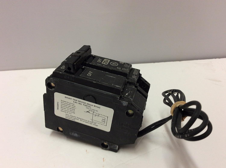 GE THQB1120ST1 Bolt-On Mount Type THQB Miniature Circuit Breaker With Shunt Trip 1-Pole 20 Amp 120 Volt AC