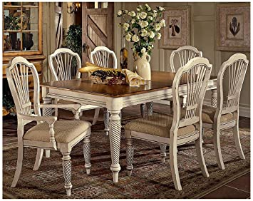 Perfect Hillsdale Wilshire 7 Piece Rectangular Dining Table Set In White